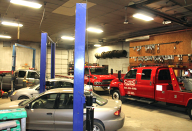 Quality Repair Services at C and C Towing.